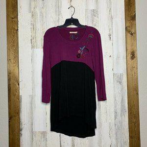Caite tunic boho blouse size large embroidered